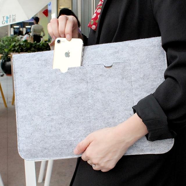 Ärmar Enfärgad Textil för MacBook Air 13-tums / Ny MacBook Pro 13-tums / Nya MacBook Air 13