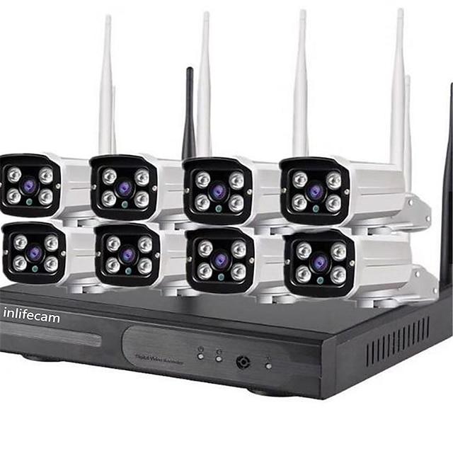 8CH 720P Trade Assurance 8 Canaux WiFi Caméra 720P CCTV Kit NVR sans fil pour CCTV Kit 8 caméras