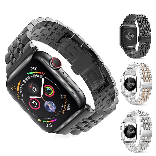 Watch Band for Apple Watch Series 4/3/2/1 Apple Classic Buckle Stainless Steel Wrist Strap
