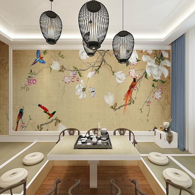 papier peint mural autocollant mural couvrant impression adhésif requis floral oiseau arbre fleur toile décor à la maison