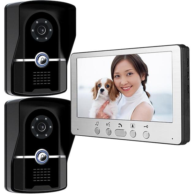 815FG21 Ultra-thin 7-inch wired video doorbell HD villa video intercom outdoor unit night vision rain unlock function