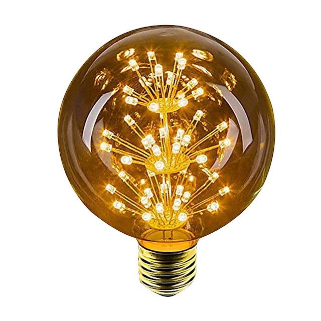 1pc 2.5 W 100 lm E26 / E27 Ampoules Globe LED 49 Perles LED LED Dip Décorative Jaune 220-240 V / 1 pièce / RoHs