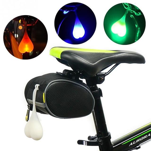 LED Luces para bicicleta Luz Trasera para Bicicleta luces de seguridad Ciclismo de Montaña Bicicleta Ciclismo Impermeable Portátil Advertencia Duradero 3000 lm RGB Rojo Azul Camping / Senderismo