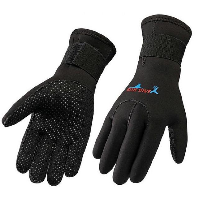 Bluedive Potápění Rukavice Aqua rukavice 3 mm Neopren Celý prst Zahřívací Rychleschnoucí Redukuje pot Plavání Potápění Surfování