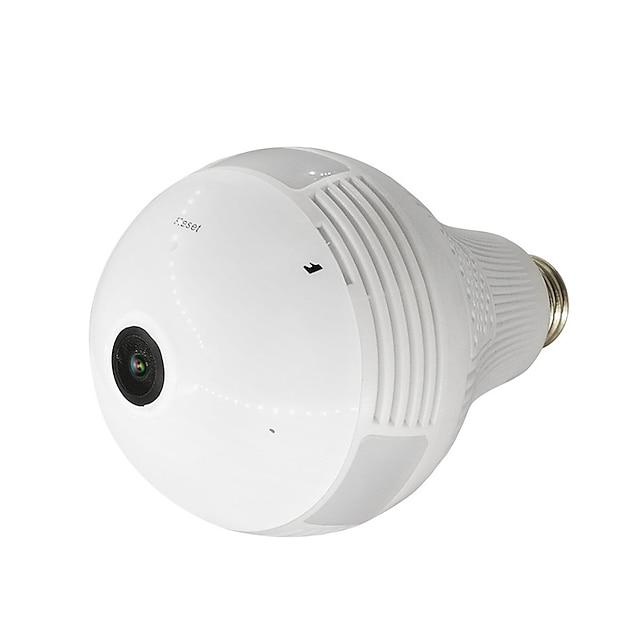 1080P Panoramic lamp bulb Wifi Ip Camera max Support 128GB