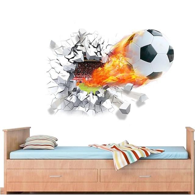 Football americano / 3D Adesivi murali Adesivi 3D da parete Adesivi decorativi da parete, PVC Decorazioni per la casa Sticker murale Parete Decorazione 1pc / Rimovibile