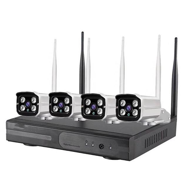 4CH 720P HD Wireless NVR Kit WIFI IP Kit Security System