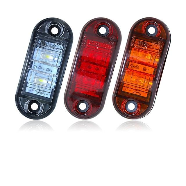 Sencart 2 pcs 12 v 24 v âmbar amarelo branco vermelho dsside luz led marcador reboque caminhão turno apuramento lâmpada