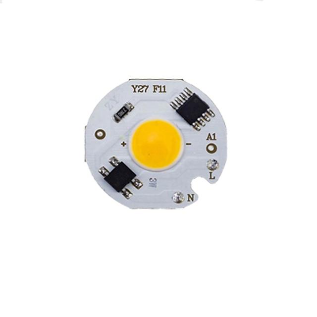 Led 3ワット5ワット7ワット9ワットcobチップランプ220ボルトスマートic不要ドライバled電球用洪水ライトスポットライトdiy照明コールドホワイトウォームホワイト