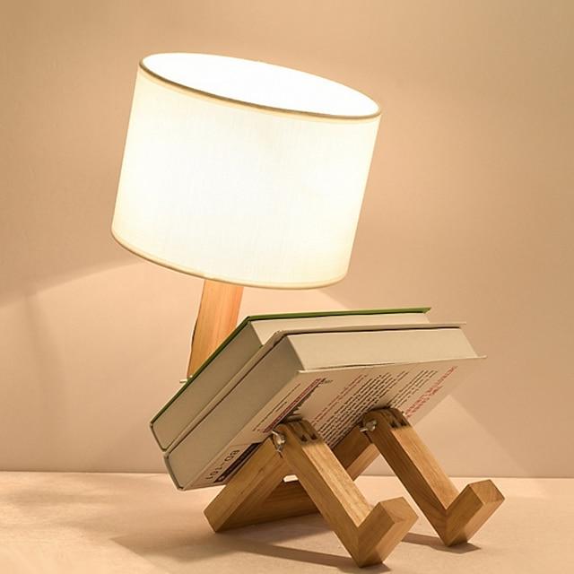 โคมไฟโต๊ะ ดีไซน์มาใหม่ สมัยใหม่ร่วมสมัย สำหรับ ห้องนอน / ห้องทำงาน / สำนักงาน ไม้ / ไม้ไผ่ 220โวลต์