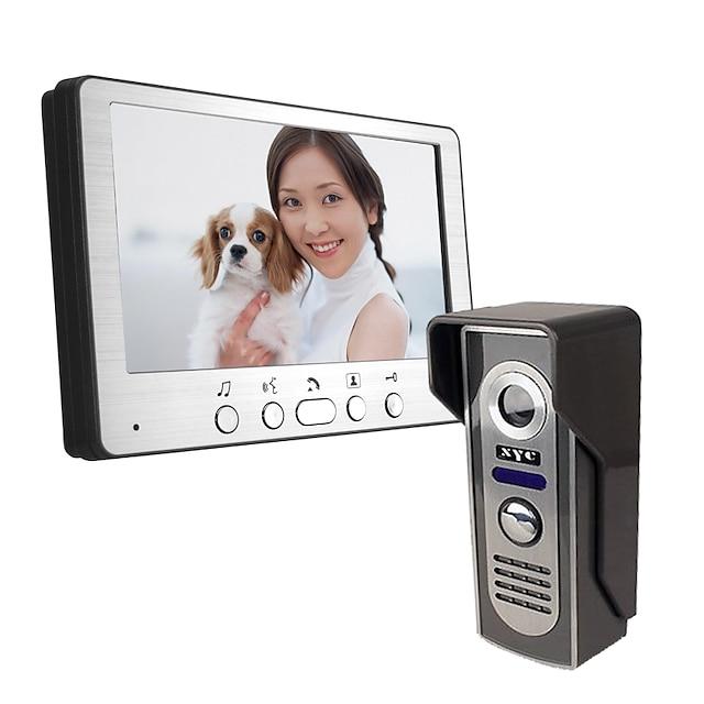 Ultra-thin 7-inch wired video doorbell 815M11 HD villa video intercom outdoor unit night vision rain unlock function