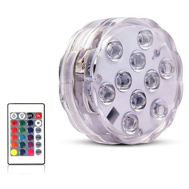 8 개 4 개 1 개 수중 조명 방수 원격 제어 멀티 색상 4.5 V 수영장 화병 및 수족관에 적합 10 LED 비즈
