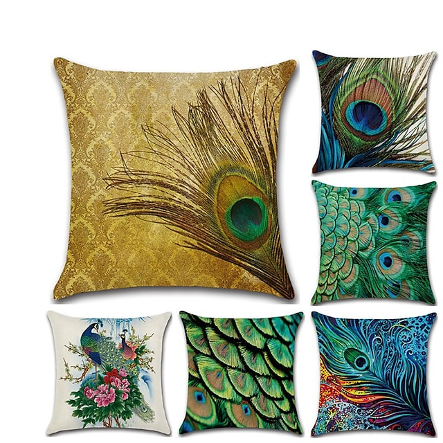 Cushion Cover 1PC Linen Soft Decorative Square Throw Pillow Cover Cushion Case Pillowcase for Sofa Bedroom  Superior Quality Mashine Washable Pack of 1