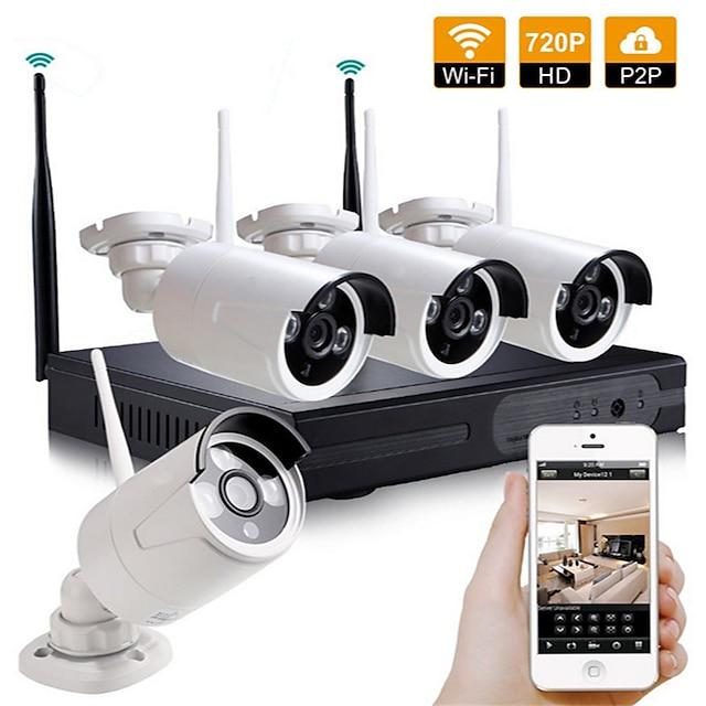 4ch CCTV Camera Wireless Nvr Kit Security System Kit
