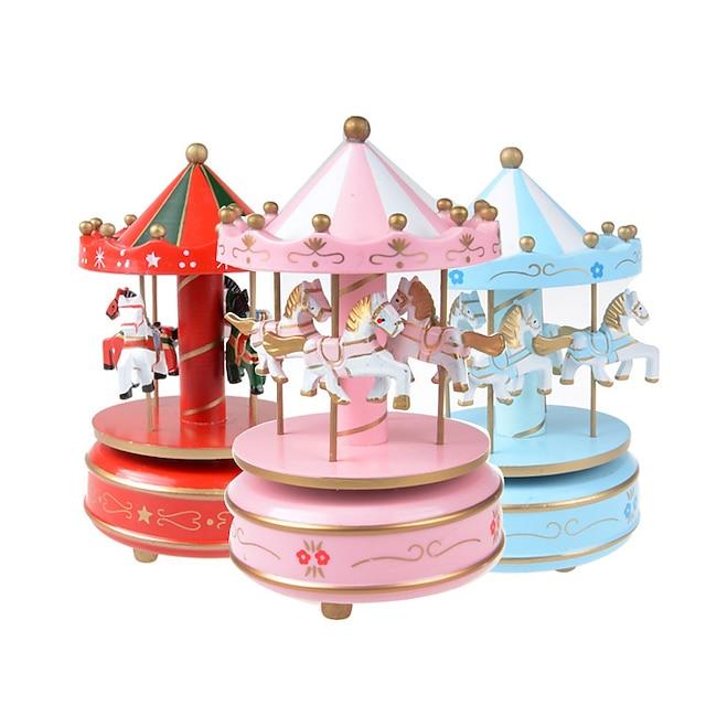 دف صغير صندوق الموسيقى الدائري صندوق موسيقى خشبي صندوق الموسيقى العتيقة جميل الصوت فريد بلاستيك نسائي للجنسين للفتيات أطفال للأطفال بالغين طفل 1 pcs هدايا التخرج ألعاب هدية