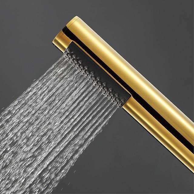 современный ручной душ, хромированный матовый ti-pvd, душевая лейка из меди и нержавеющей стали
