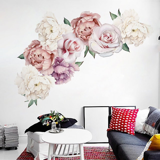 Decorative Wall Stickers - Plane Wall Stickers Landscape / Floral / Botanical Living Room / Bedroom / Kitchen / Re-Positionable 60*30*2cm Wall Stickers for bedroom living room