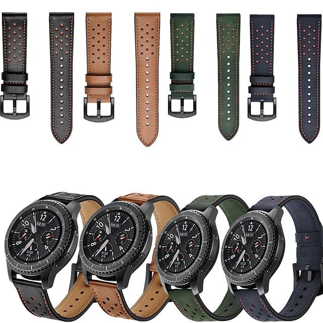 Cinturino intelligente per Samsung Galaxy 1 pcs Cinturino sportivo Vera pelle Sostituzione Custodia con cinturino a strappo per Gear S3 Frontier Gear S3 Classic Samsung Galaxy Watch 46