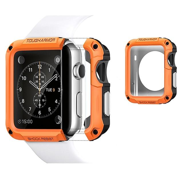 Custodie Per Apple  iWatch Apple Watch Series 7 / SE / 6/5/4/3/2/1 / Apple Watch Serie SE / 6/5/4/3/2/1 TPU / Plastica Proteggi Schermo Custodia per Smartwatch  Compatibilità 38mm 42mm 40 mm 44mm