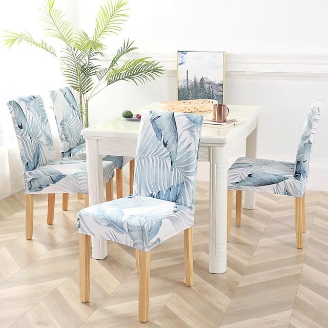 eetkamerstoel hoes stretch stoel hoes zachte bloemen bloemenpatroon duurzaam wasbare meubels beschermer voor eetkamer party