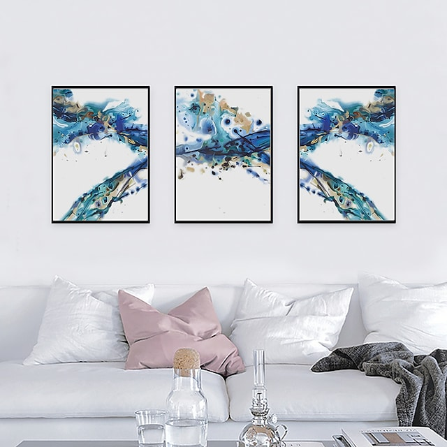 프레임 아트 프린트 프레임 세트 - 추상적인 폴리스티렌 오일 페인팅 벽 예술