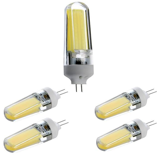 5pcs 3 W LED-lampor med G-sockel LED-glödlampor 400 lm G4 T 1 LED-pärlor COB Bimbar Dekorativ Vackert Varmvit Kallvit Naturlig vit 220-240 V 110-120 V