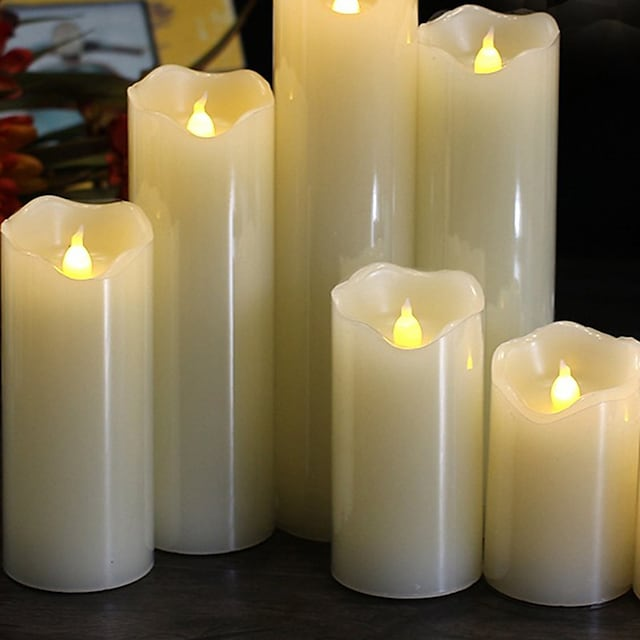 나이트 라이트 / 데코레이션 라이트 / 불꽃없는 촛불 러블리 / 분위기 램프 / 낭만주의 선물 AAA 배터리 구동 1 개