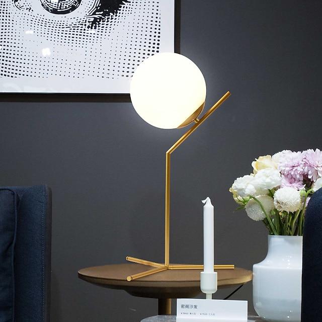Bordlampe Dekorativ Simple / Nordisk stil Til Soveværelse / butikker / cafeer Metal 220 V Sort / Guld