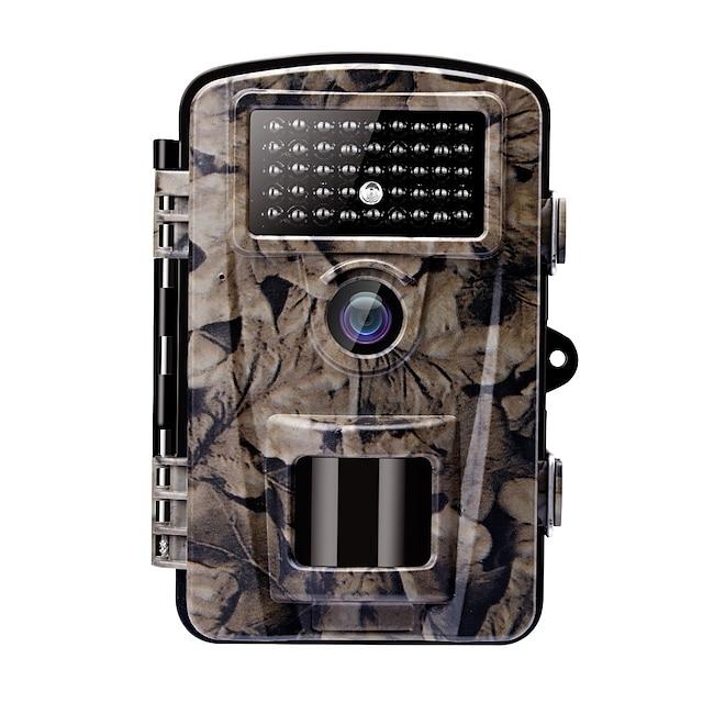 Macchina fotografica / videocamera di scena di caccia 12MP Colore CMOS 1080P HD Visione notturna LCD da 2,4 pollici LED IR 42 pezzi Campeggio / Escursionismo / Speleologia Caccia Vita Selvaggia 940 nm