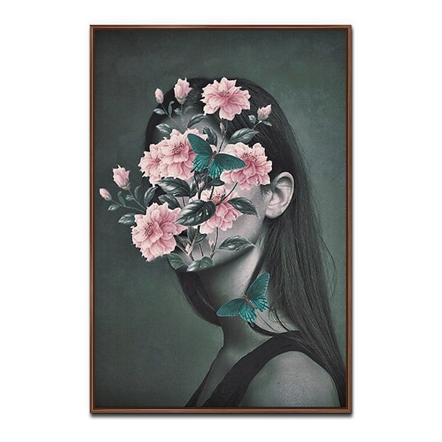 프레임 아트 프린트 프레임 캔버스 프린트 - 사람 폴리스티렌 오일 페인팅 벽 예술