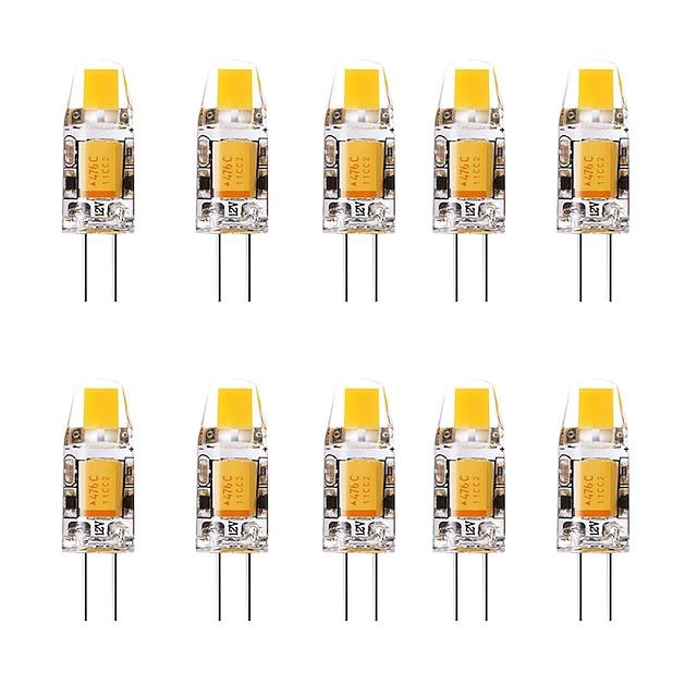 10pcs 1.5 W LED Bi-pin Lights 3000 lm G4 1 LED Beads Warm White White 12 V
