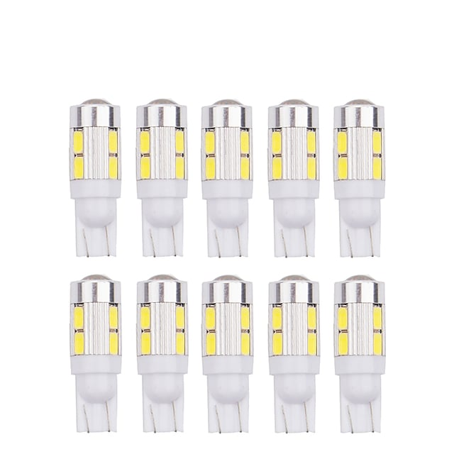 10pcs T10 5630 10SMD w5w LED 194 168 W5W Car Side Wedge Tail reading Light Lamp car indicate auto bulb 12v