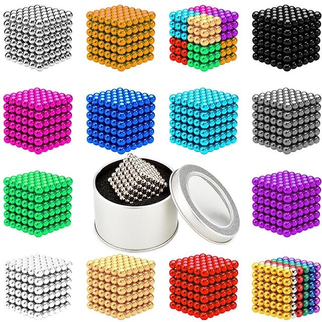 216-1000 pcs 3mm Magnetiske puslespil Magnetiske kugler Byggeklodser Superkraftige neodym-magneter Neodymmagnet Neodymmagnet Moderne Klassisk & Tidløs Chic og moderne Stress og angstlindring Kontor