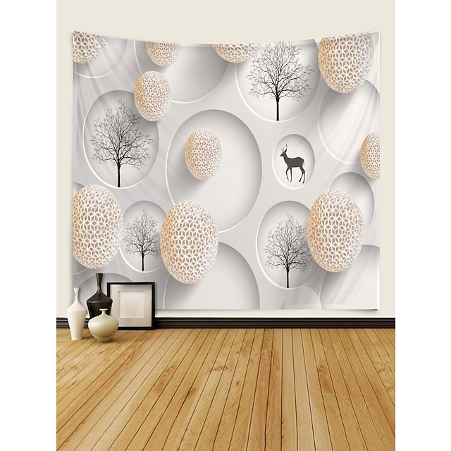 Tema Clásico Decoración de la pared 100% Poliéster Clásico Arte de la pared, Tapices de pared Decoración