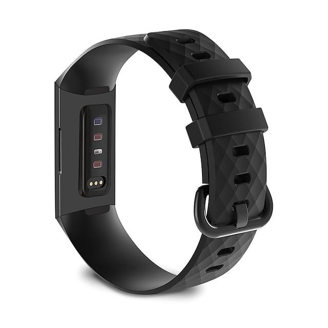 Pulseira de Smartwatch para Garmin Fitbit 1 pcs Fecho Clássico Silicone Substituição Tira de Pulso para Fitbit Charge 3