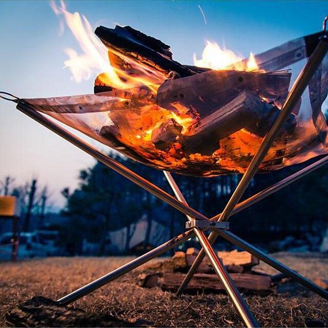 캠핑 파이어 피트 싱글 휴대용 멀티기능 견고함 옥스퍼드 304 스테인레스 스틸 ...에 대한 3-4 사람 집 밖의 캠핑 & 하이킹 여행 피크닉 화이트