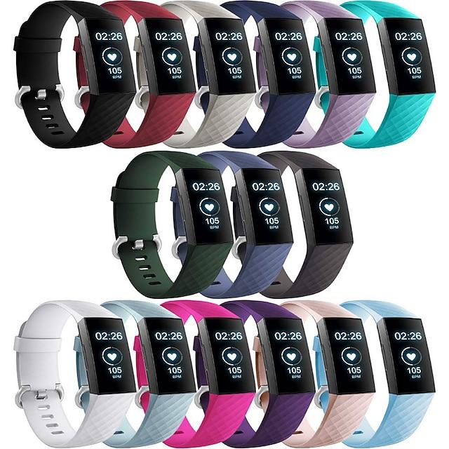 스마트 시계 밴드 용 핏빗 1 pcs 모던 버클 실리콘 바꿔 놓음 손목 스트랩 용 핏빗 충전기 3 L S