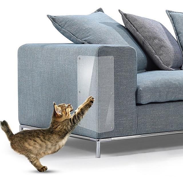 4 stk 14 * 48 cm sofa kat ridse beskyttere mat skraber kat træ skrabe klo post beskytter sofa til katte ridse pote pads kæledyr møbler