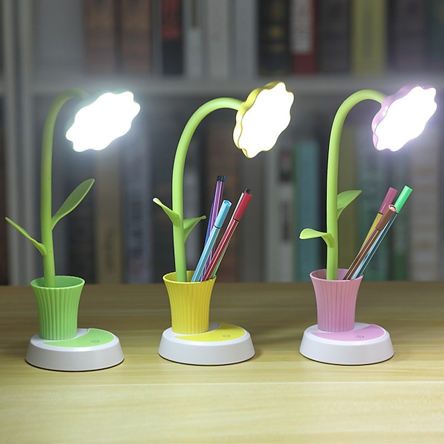 Desk Lamp / Reading Light Eye Protection / Ambient Lamps Simple / Modern Contemporary USB Powered For Bedroom / Office <5V Yellow / Blushing Pink