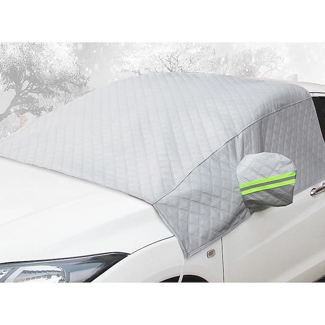переднее ветровое стекло автомобиля антифриз крышка от замерзания и утолщение снега половина кузова автомобильная одежда половина покрытия