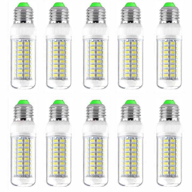 10pcs 12 W LED-lampa 1200 lm E14 GU10 B22 T 72 LED-pärlor SMD 5730 Ny Design Varmvit Vit 220-240 V 110-120 V