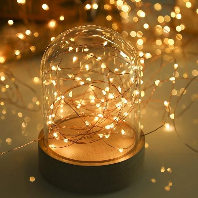 luzes de corda LED 5m 50 leds branco quente rgb branco festa decorativas baterias de casamento alimentadas