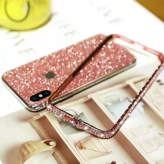 telefono Custodia Per Apple Per retro iPhone 12 Pro Max 11 SE 2020 X XR XS Max 8 7 6 Con diamantini Glitterato Metallo