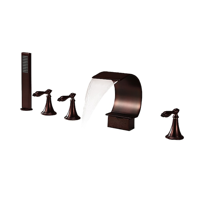 Torneira de Chuveiro / Torneira de Banheira - Clássica Bronze Polido a Óleo Difundido Vãlvula Latão Bath Shower Mixer Taps