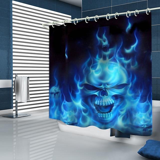 샤워 커튼 및 후크 현대 폴리 에스터 프리미엄 디자인