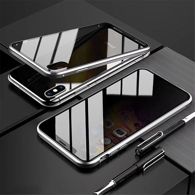 capa magnética anti-peep para iphone 12 11 pro max caixa de privacidade vidro dupla face proteção 360 à prova de choque flip capa magnética anti-peep para iphone x / xs max xr 7/8 plus