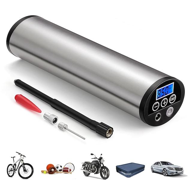 150psiミニインフレータ電動ポータブルカー自転車ポンプ電動自動空気圧縮機ポンプeuプラグ付き液晶ディスプレイ