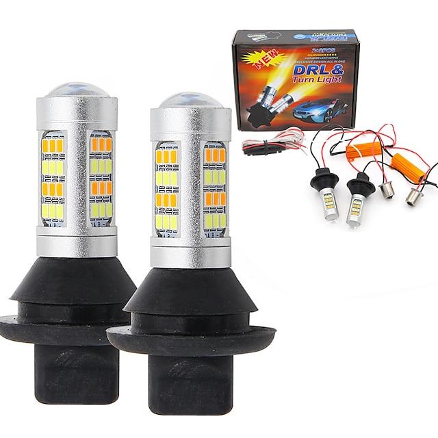 2pcs T20 (7440,7443) Automatisch Lampen SMD 2835 LED Dagrijverlichting / Richtingaanwijzerlicht Voor Toyota / Nissan / Mitsubishi Alle jaren
