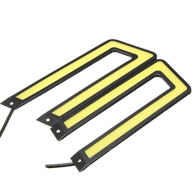 U 자 모양 옥수수 속 LED 주간 야간 항행 등 drl 자동차 운전 안개 램프 6000k 백색 2pcs