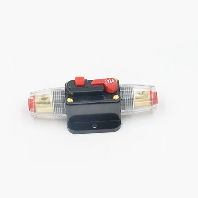 disjuntor em linha estéreo / áudio / carro / barco / rv fusível recuperável 12v / 24v / 32v proteção tensão atual dc12 / 24 / 32v